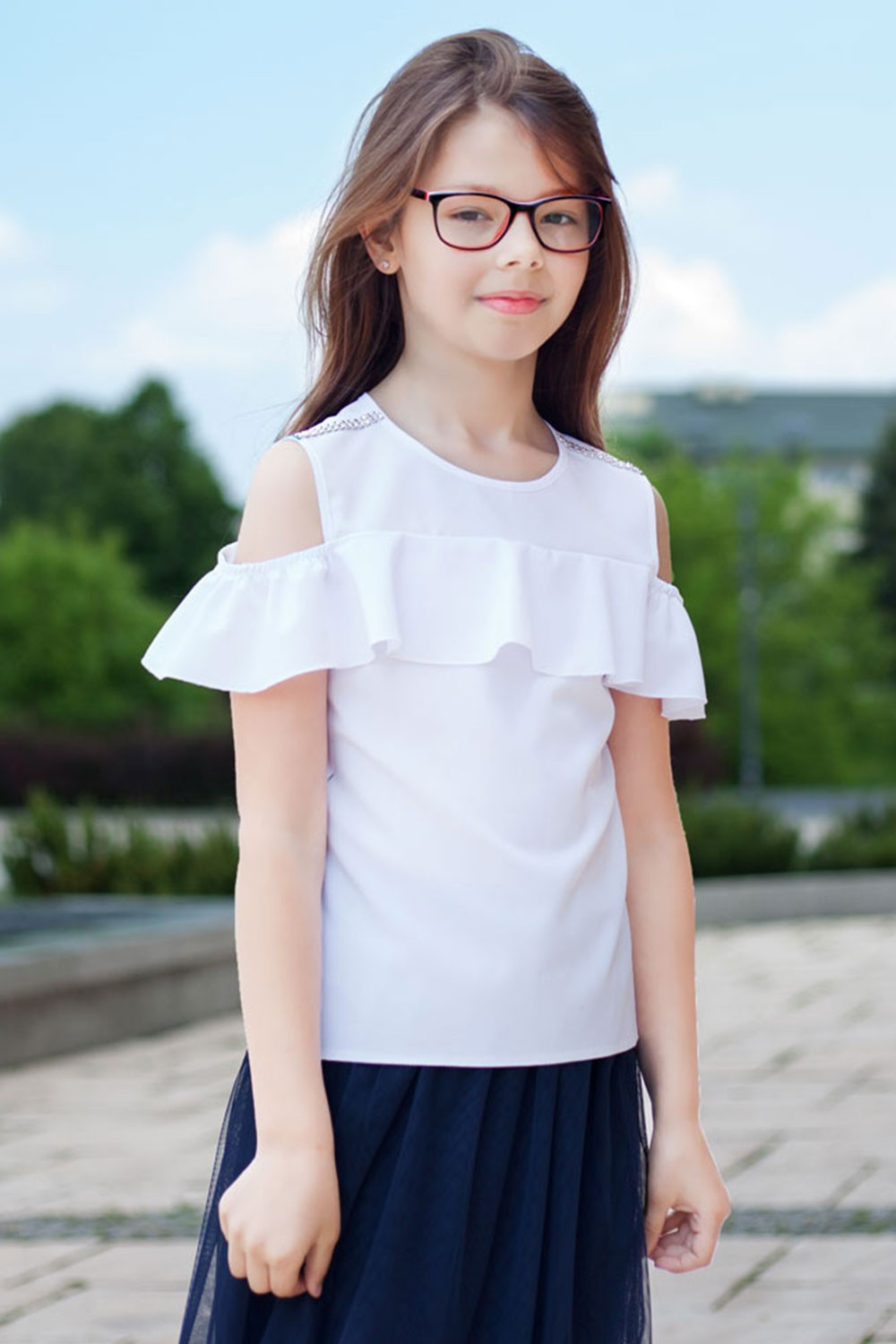 Blouse with a frill Marta