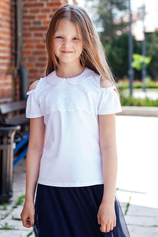 Biała bawełniana elegancko-sportowa bluzka Rosa