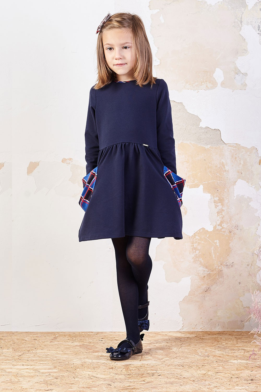 Knitted dress with pockets Alicja