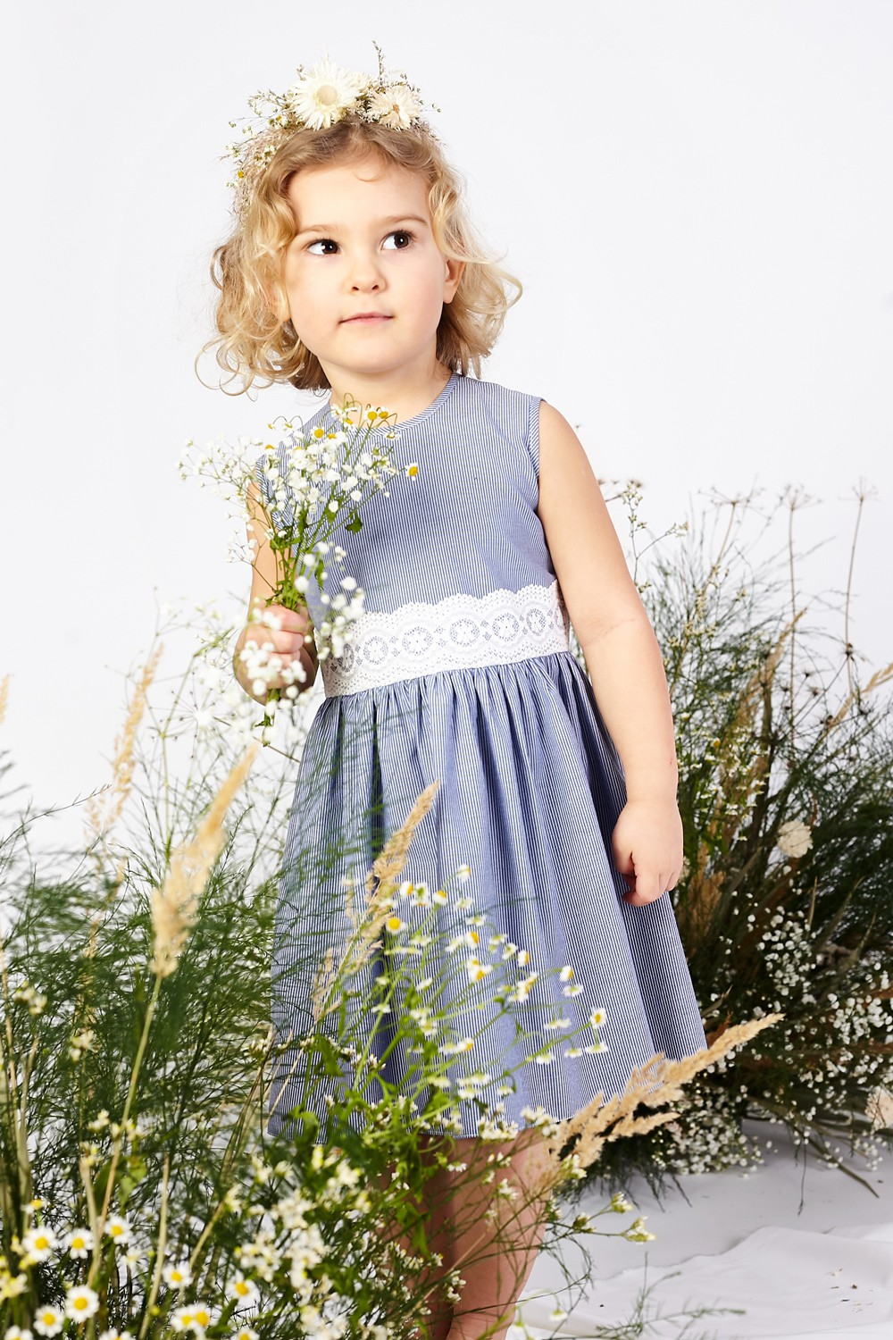 Dress with small stripes for the summer Hanna